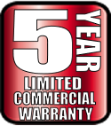 5 year commercial limited warranty