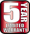 5 year residential limited warranty